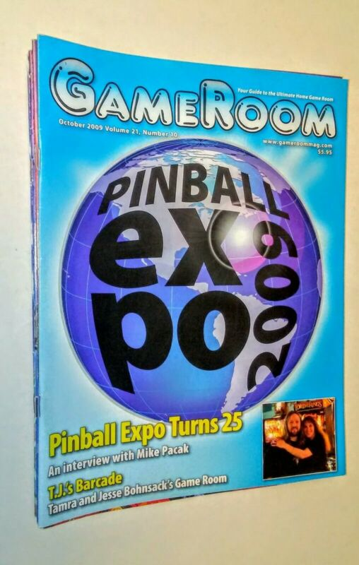 GAMEROOM  OCT 2009 PINBALL EXPO  VF