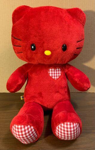 BUILD A BEAR Red Hello Kitty LMTD Edition Love Hearts Valentine Sanrio Gingham