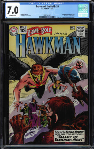 BRAVE AND THE BOLD #35 CGC 7.0 2ND SILVER AGE APP OF HAWKMAN CGC #2037501023