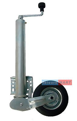 60mm Maypole Heavy duty automatic folding jockey wheel with fixed clamp bracket