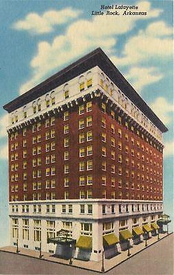 Little Rock Arkansas~Hotel LaFayette Corner View~300 Rooms/Baths~1940 Linen - Lafayette Bath