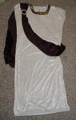 Zeus Toga Greek Julius Caesar Roman Robe with Sash Costume One Size Fits Most