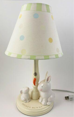Honey Bunny Table Lamp Ceramic Mother Rabbit Baby Bunny Nursery Child