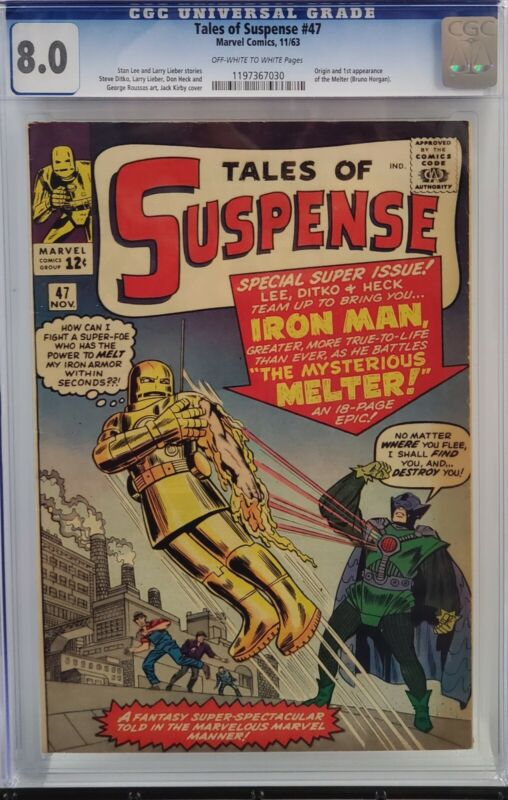 TALES OF SUSPENSE #47 CGC 8.0 IRON MAN