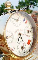 Antique Maritime Brass desk Clock Nautical Table Desk Clock Best Gift Item