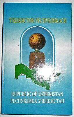 REPUBLIC OF UZBEKISTAN REFERENCE BOOK TRILINGUAL 1995 SMALL HARD COVER