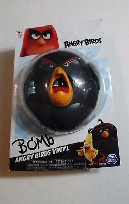 ANGRY BIRDS ACTION FIGURE Rovio Video Game Character BOMB BIRD Vinyl Figure -NEW