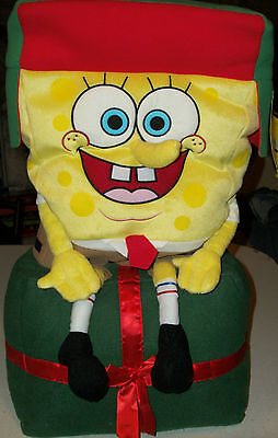 Spongebob Squarepants large Holiday Greeter Decoration Plush Xmas Nickelodeon (Greeter Decoration)