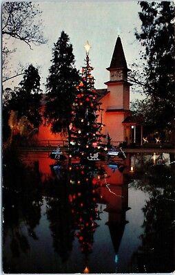 Lot of 2 CA Postcards Knott's Berry Farm Rare Magic Christmas Tree & Old Betsy ()