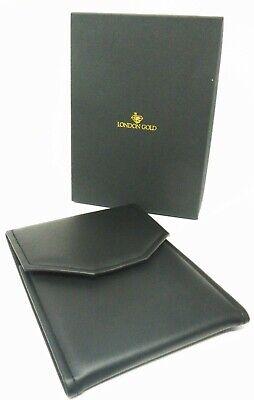 London Gold Black Leatherette Folding Travel And Storage Necklace Case Qty 6