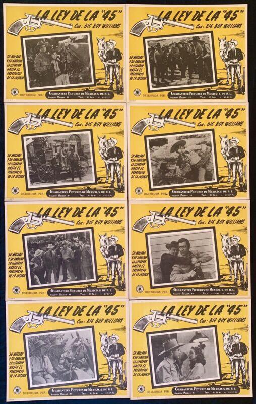 "THE LAW OF THE 45 Guinn ""Big Boy"" Williams MEXICAN LOBBY CARD SET 1935"
