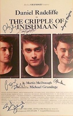 *RARE* CRIPPLE OF INISHMAAN DANIEL RADCLIFFE BROADWAY CAST SIGNED POSTER!