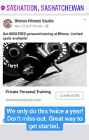 Christmas Deal - $500 Free Personal Training
