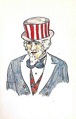 C6656 Uncle Sam Portrait - Chrome Postcard Publ. Yankee Colour Corp. No. CC-11