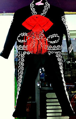 Boys Toddlers Mariachi Suit Set Mexico Folklorico 5 De Mayo Fiesta Dance Costume - Toddler Mariachi Costume