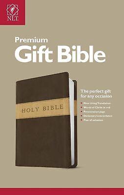 NLT Premium Gift Bible, Dark Brown/Tan
