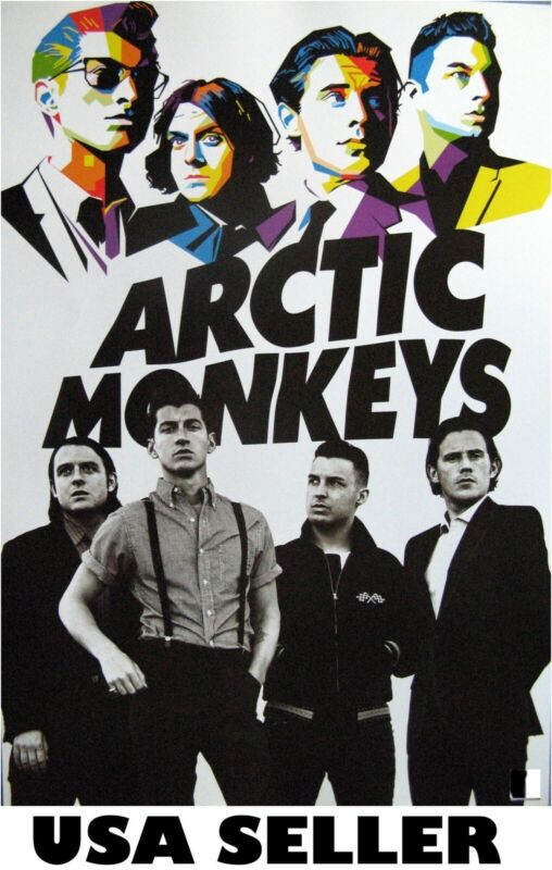 Arctic Monkeys colorful POSTER 14.5 x 19 (sent FROM USA in PVC pipe)