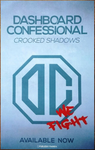 DASHBOARD CONFESSIONAL Crooked Shadows Ltd Ed RARE Tour Poster +FREE Emo Poster!