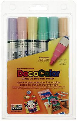 Gloss Pastel Base - Marvy Uchida DecoColor Paint Marker Pastel Set Broad Point Deco Color Oil Base