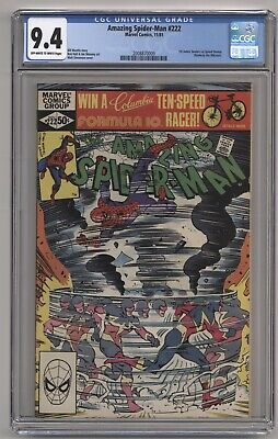 AMAZING SPIDER-MAN #222 CGC 9.4 OWTW PAGES SPEED DEMON APPEARANCE!