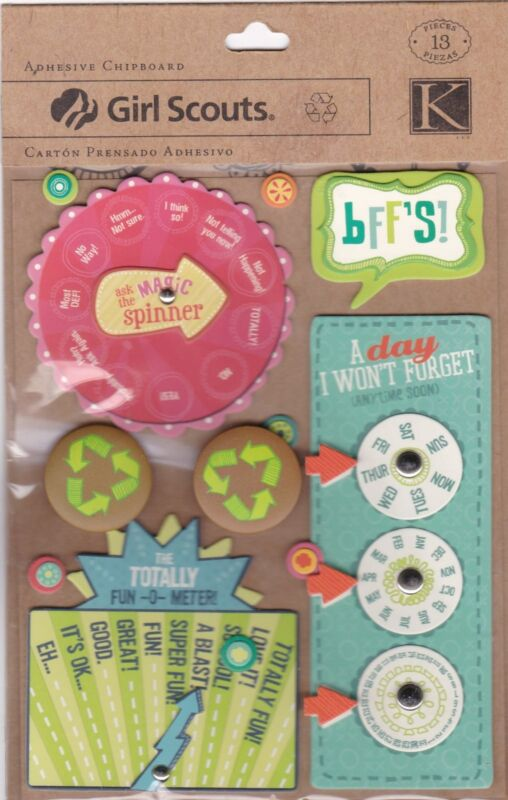 Girl Scouts Adhesive Chipboard - 13 Pieces