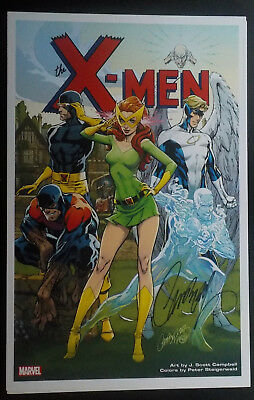 2016 SDCC XMEN GIRLS ART PRINT SIGNED BY J SCOTT CAMPBELL 11x17