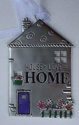 15cd house plus love = home NO PLACE LIKE HOME House ornament Ganz