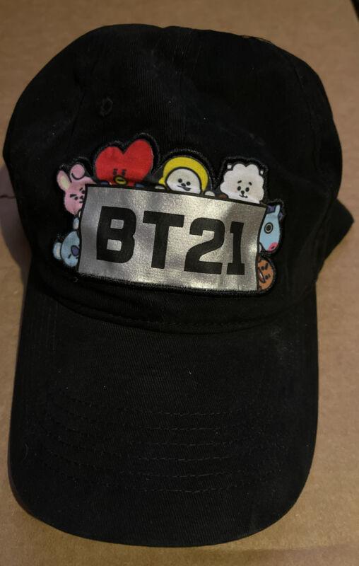 BT21 Line Friends Baseball Hat ~ Curved Brim ~ Adjustable Size ~ Brand New ~ BTS