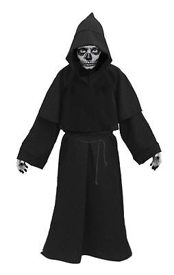 Childs 8-12 yrs Grim Reaper Robes & Face paint Halloween Fancy Dress Costume (Halloween Grim Reaper Face Painting)