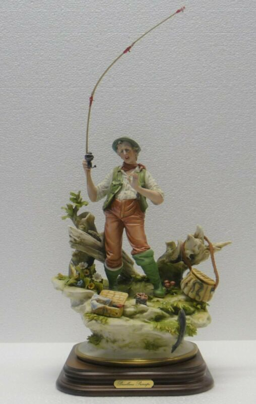 Porcelain Of Capodimonte. The Fisherman, Realism Single