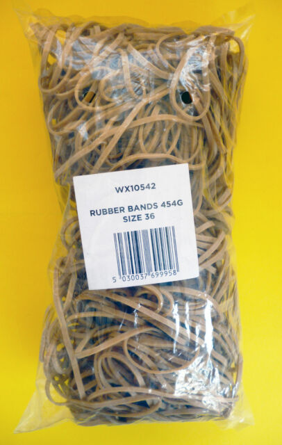 450g 127mm x 3mm Large Bag or Box of RUBBER BANDS NO.36 SIZE Elastic Bands, FAST