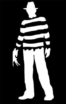 Freddy Krueger Full Body Horror Movie Vinyl Decal Sticker Car Window - Freddy Krueger Full Body