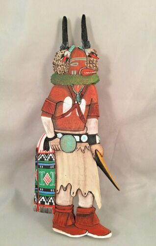 Hopi Squirrel Wall Hanging Kachina by Wilmer Kaye