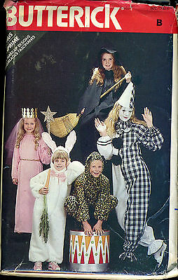 BUTTERICK COSTUME 3372 KIDS PATTERN S-M-L HALLOWEEN PRINCESS BUNNY LEOPARD