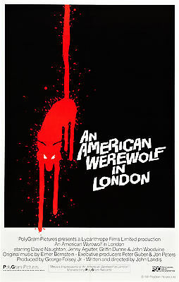 An American Werewolf In London Movie Poster Rare