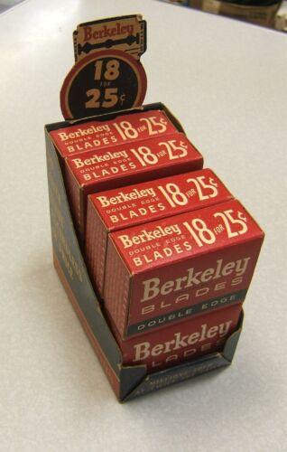 Vintage Berkeley Double Edge Razor Blade Display