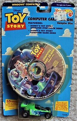 TOY STORY Hot Wheels RC Car 1995 Mattel 1st ISSUE MIP Remote Control DISNEY Buzz