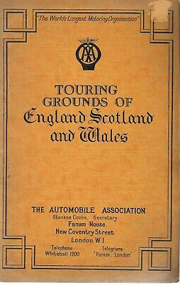 AA Automobile Association Touring Grounds Of England Scotland Wales 1932 Vintage