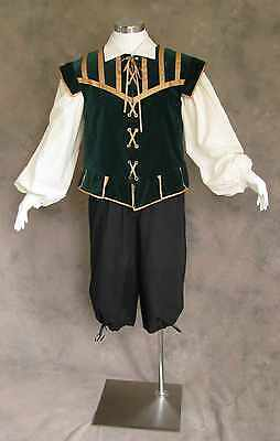 Renaissance Faire Costumes Men (Men's Renaissance Doublet Costume Game of Thrones GOT Ren Faire Dark Green)