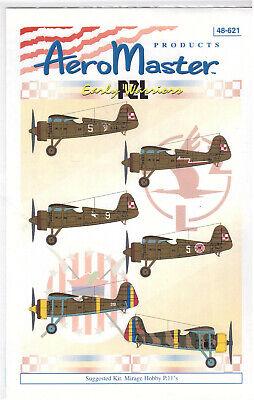 PZL P.11 decals 1/48 Aero Master 48621