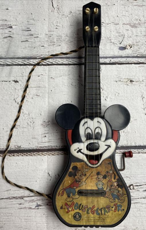 Mickey Mouse Guitar Walt Disney Vtg 50s 1955 Music Mousegetar Jr. Mousketeers