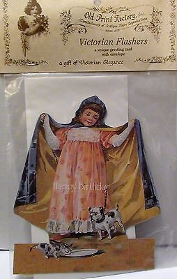 Turn of the Century Victorian FLASHERS Unique CARD Happy Birthday-Envelope