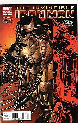 Invincible Iron Man 24 Variant Cover vf/nm  2010 Marvel Comics