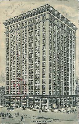 Toledo Oh Nicholas Buildings Fifth Third Bank 1905 Postcard