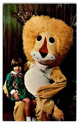1970s Mr. Lion Costume, Lions Club AM America Baton Rouge Postcard (Costumes Baton Rouge)