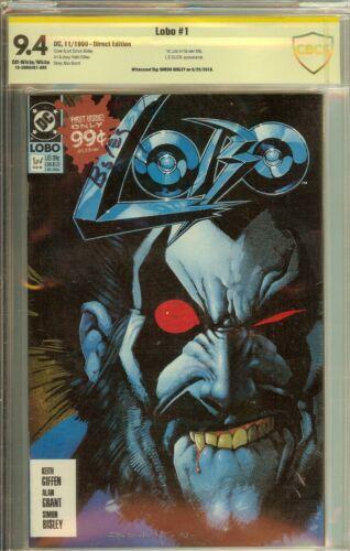 Lobo #1 1991 CBCS (not CGC) 9.4 Signed Simon Bisley