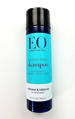 EO Essential Oils Coconut & Hibiscus Sulfate Free Shampoo 8.4 oz All Hair Types Eo Coconut Shampoo