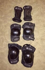 Wrist, elbow and knee pads for rollerblading size lrg