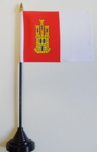 Castilla-La Mancha Spain Polyester Table Desk Flag