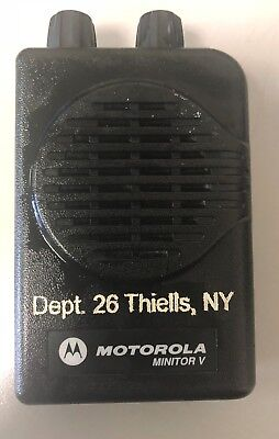 Motorola Minitor V Pager - Uhf 470-477.9875 Mhz 1 Channel Wcharger 3